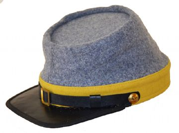 Confederate Grey Cavalry Kepi With Yellow Trim